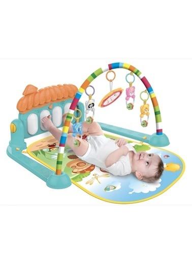 Babycim Babycim Sevimli Piyanolu Sesli Işıklı Aynalı Oyun Halısı Renkli